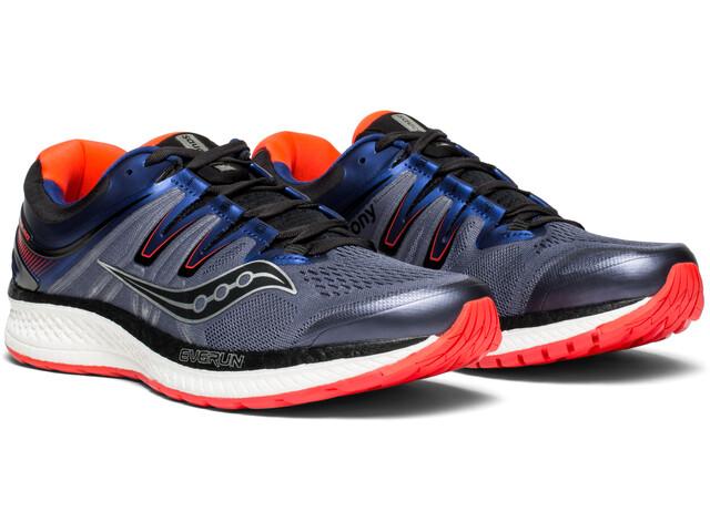 saucony Hurricane ISO 4 Shoes Men Grey/Blue/ViziRed